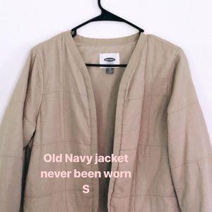 Old Navy khaki cropped jacket